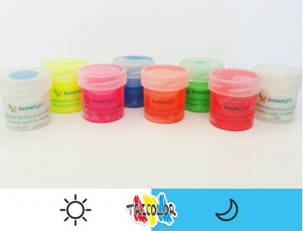 Краска светящаяся AcmeLight для текстиля классик голубая 20мл - изображение 2 - интернет-магазин tricolor.com.ua