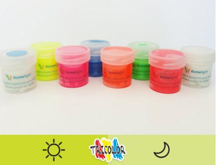 Краска светящаяся AcmeLight для текстиля желтая 20мл - изображение 2 - интернет-магазин tricolor.com.ua
