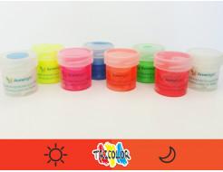 Краска светящаяся AcmeLight для текстиля оранжевая 20мл