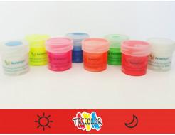 Краска люминесцентная AcmeLight для текстиля красная 20мл