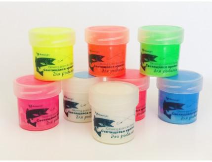Набор светящихся красок для рыбалки AcmeLight 8 шт - интернет-магазин tricolor.com.ua