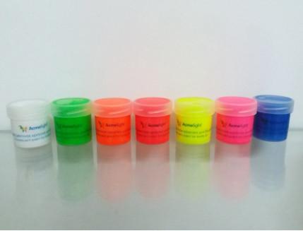 Набор флуоресцентных красок AcmeLight аквагрим для тела 8 шт по 20 мл - изображение 2 - интернет-магазин tricolor.com.ua