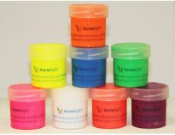 Набор флуоресцентных красок AcmeLight аквагрим для тела 8 шт по 20 мл - интернет-магазин tricolor.com.ua