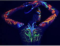 Купить Набор флуоресцентных красок AcmeLight аквагрим для тела 8 шт - 1
