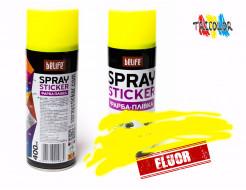 Купить Краска-пленка (жидкая резина) BeLife SPRAYSTICKER FLUOR желтая - 1