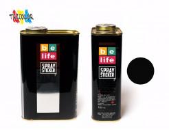 Купить Краска-пленка (жидкая резина) BeLife SPRAYSTICKER PRO 1 л. (700 гр) черная матовая - 1
