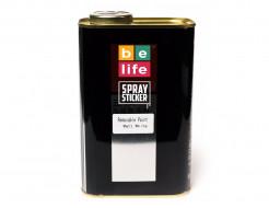 Краска-пленка (жидкая резина) BeLife SPRAYSTICKER PRO 1 л. (700 гр) белая матовая - интернет-магазин tricolor.com.ua