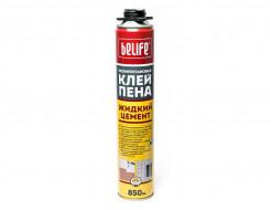 Профессиональная клей-пена (Жидкий цемент) BeLife 850 мл - интернет-магазин tricolor.com.ua