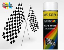 Купить Эмаль аэрозольная универсальная акриловая белая матовая Motip 500 мл