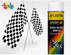 Купить Эмаль аэрозольная универсальная акриловая белая глянцевая Motip 500 мл
