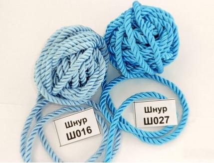 Декоративный шнур Limil № 16 голубой - интернет-магазин tricolor.com.ua
