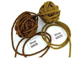 Декоративный шнур Limil № 22 светло-коричневый