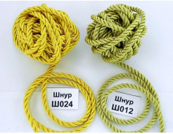 Декоративный шнур Limil № 24 желтый - интернет-магазин tricolor.com.ua