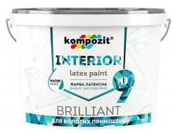 Краска интерьерная INTERIOR 9 для влажных помещений Kompozit