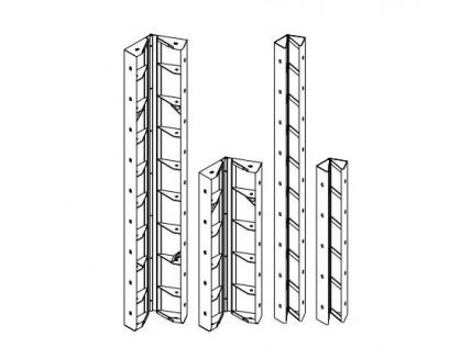 Угол шарнирный Будмайстер 150*150*2700 полимерное покрытие - интернет-магазин tricolor.com.ua