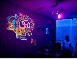 Краска флуоресцентная AcmeLight для творчества желтая 20мл - интернет-магазин tricolor.com.ua