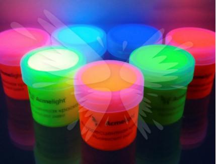Краска флуоресцентная AcmeLight для творчества розовая 20мл - изображение 2 - интернет-магазин tricolor.com.ua