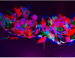 Краска флуоресцентная AcmeLight для творчества красная 20мл