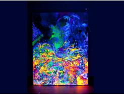 Краска флуоресцентная AcmeLight для творчества зеленая 20мл