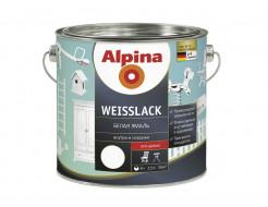 Купить Эмаль алкидная для дерева и металла Alpina Weisslack GL глянцевая белая