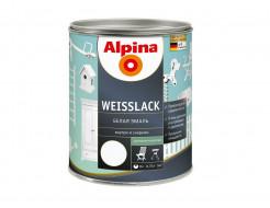 Эмаль алкидная для дерева и металла Alpina Weisslack SM матовая белая