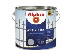 Купить Эмаль алкидная 3 в 1 Alpina Direkt auf Rost черная RAL9005