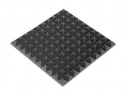 Акустическая панель пирамида 30 мм 50х50 см Mini,черный графит