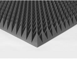 Акустический поролон пирамида 90 мм 1х1 м, черный графит