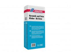 Клей для плитки Krautol Keramik und Stein Kleber 86 Grau