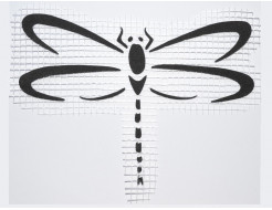 Декор для жидких обоев Экобарвы Стрекоза 001