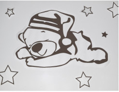Купить Декор для жидких обоев Экобарвы Мишка + 6 звезд набор