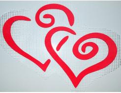 Декор для жидких обоев Экобарвы Два сердца
