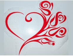 Декор для жидких обоев Экобарвы Сердце-цветы
