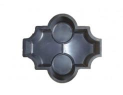 Форма для тротуарной плитки МАО Конюшина с кольцами 26,7*21,8*4,5