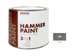 Антикоррозионная молотковая краска-грунт для металла Biodur 3 в 1, 104 Серая