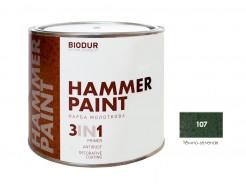 Антикоррозионная молотковая краска-грунт для металла Biodur 3 в 1, 107 Темно-зеленая