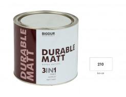 Антикоррозионная матовая краска-грунт Biodur 3 в 1, 210 Белая