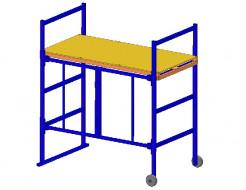 Подмости передвижные Будмайстер Little 1,0 1C 0,60*1,20 - интернет-магазин tricolor.com.ua
