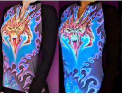 Краска люминесцентная AcmeLight для ткани оранжевая - интернет-магазин tricolor.com.ua