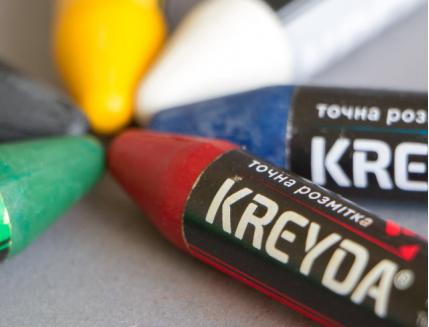 Набор мелков для маркировки на основе воска KREYDA 2 шт (белые) - изображение 2 - интернет-магазин tricolor.com.ua