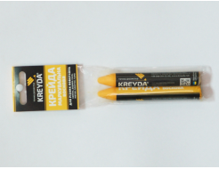 Набор мелков для маркировки на основе воска Kreyda универсальные 2 шт (желтые) - интернет-магазин tricolor.com.ua