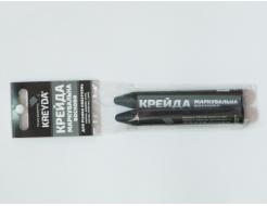 Набор мелков для маркировки на основе воска Kreyda универсальные 2 шт (черные) - интернет-магазин tricolor.com.ua