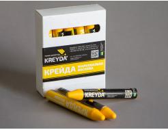 Набор мелков для маркировки на основе воска Kreyda универсальные 12 шт (желтые) - интернет-магазин tricolor.com.ua