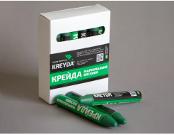 Набор мелков для маркировки на основе воска Kreyda универсальные 12 шт (зеленые) - интернет-магазин tricolor.com.ua