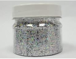 Купить Глиттер голографический GGS/1,0 мм (1/24) серебряный Tricolor