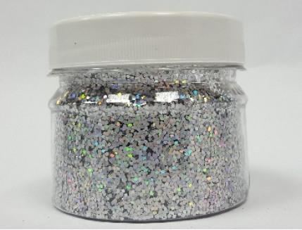 Купить Глиттер голографический GGS/1,0 мм (1/24) серебряный Tricolor - 1