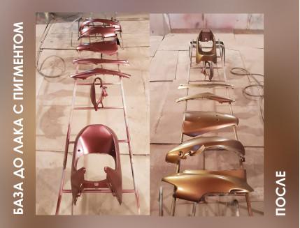Пигмент Хамелеон Tricolor 7702 Бронза-бирюзовый-оранжевый - изображение 8 - интернет-магазин tricolor.com.ua