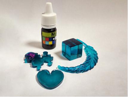 Краситель для смол и полиуретанов Marbo Ocean Blue (морская волна) - интернет-магазин tricolor.com.ua