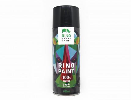 Универсальная аэрозольная акриловая краска Rino (черная матовая) - интернет-магазин tricolor.com.ua