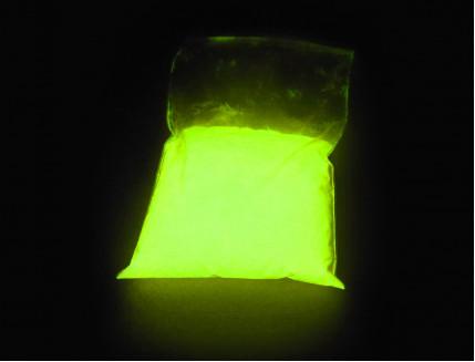 Люминесцентный пигмент Люминофор цветной ТАТ 33 желтый (80 микрон) - изображение 2 - интернет-магазин tricolor.com.ua